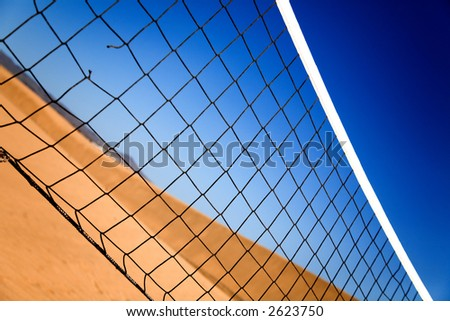 beach volleyball net in a sunny day