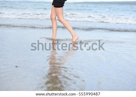 Beach Walk #555990487