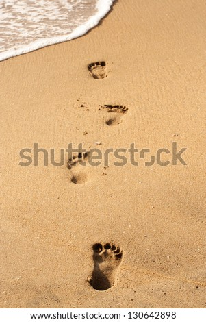 Beach walk -Foot prints