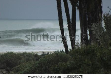 beach waves background #1153025375