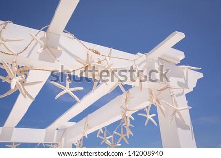 Beach Wedding Arch with Starfish