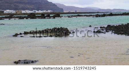 Beach with nobody in Lanzarote