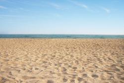 Beach with sand.