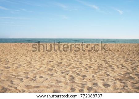 Beach with sand. #772088737
