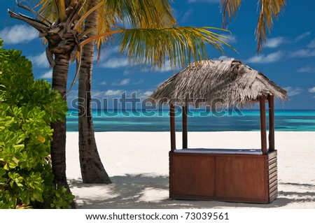 Beachbar on a tropical island