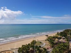 Beachfront of Boa Viagem Beach, Recife, Pernambuco State, Brazil.