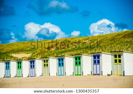 Beachhouses at Texel, the Netherlands