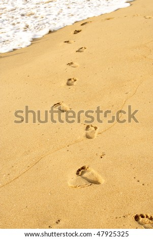 Beachwalk -Foot prints
