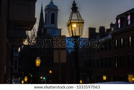 beacon hill is illuminated with ...