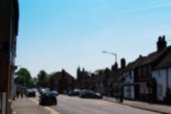 BEACONSFIELD, ENGLAND - JUNE 2016: The old town of Beaconfield dating backto c.1185 Out of focus.