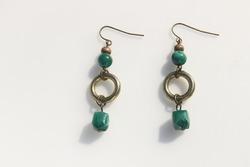 Beaded dangle vintage earrings costume jewelry accessories