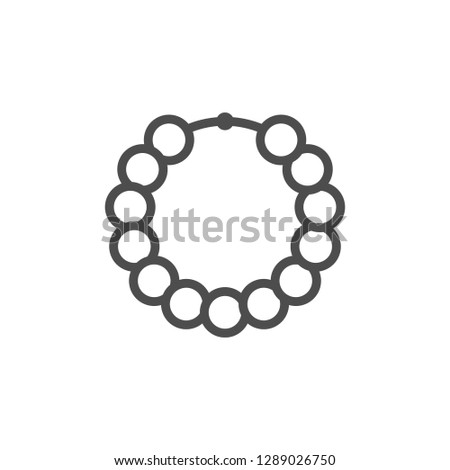 Beads line icon isolated on white