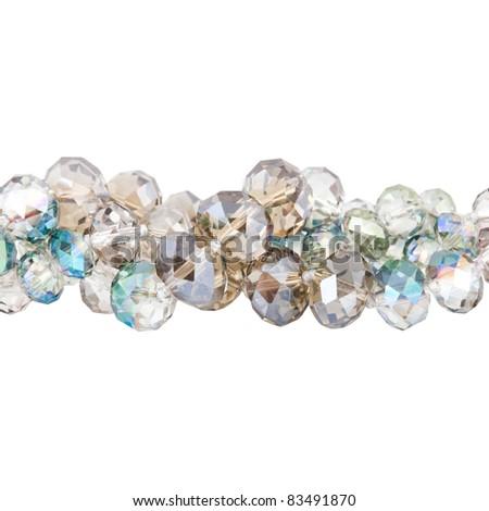 beads on white