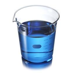 Beaker with blue liquid