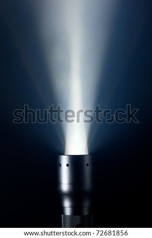 beam of defuse light in the fog