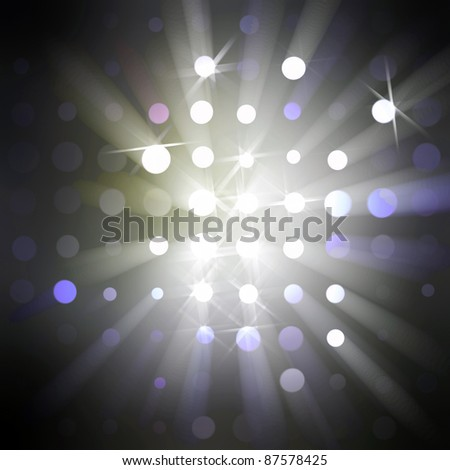 Beams of soft light from round holes and light stars