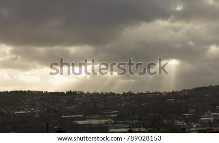 beams of sunlight #789028153