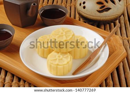 Bean paste cake - stock photo