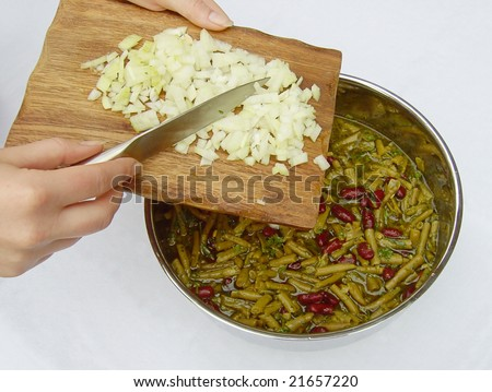 bean salad Stock foto ©