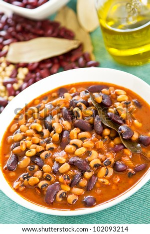 Bean soup [ Bean stew ]