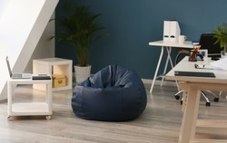 Beanbag chair in interior of office