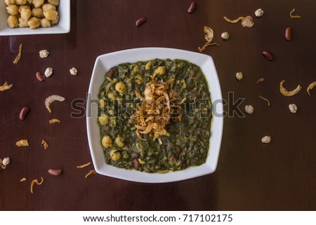 Beans, Aash, Iranian dish, Traditional dish #717102175