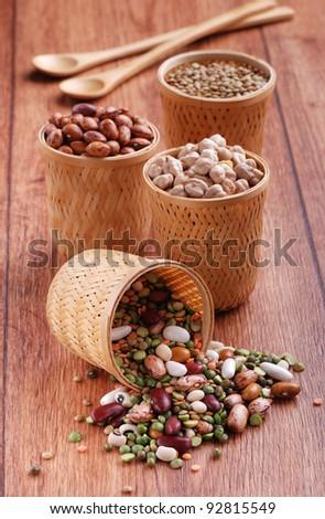 beans, chickpeas, lentils