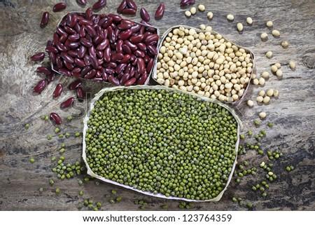 Beans on wood