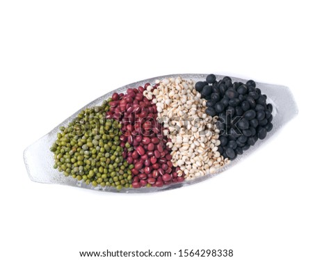beans or mix red beans or green beans and black beans on a background new