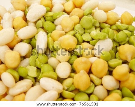 Beans soup or salad useful as a background