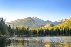 Bear Lake at sunrise. Rocky Mountain National Park, Colorado, United States