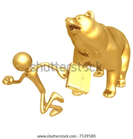 Bear Market Run - stock photo