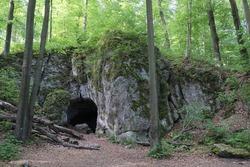 Bear's Cave in the Park Reserve in Zloty Potok, Trail of Karst Phenomena in Krakowsko-Czestochowska Upland,