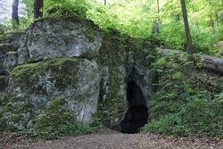 Bear's Cave in the Park Reserve in Zloty Potok, Trail of Karst Phenomena in Krakowsko-Czestochowska Upland,