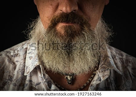 Bearded man close up. Beard is his style. Closeup of bearded mans. Male with mustache growing. Perfect beard. Close-up of young bearded man. Close up of handsome beard hipster elegant male.
