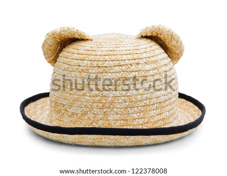 Bears hat. Isolated on white background.