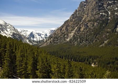 Beartooth Mountains in Montana
