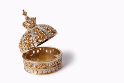 Beaty jewellery casket, box isolated on white
