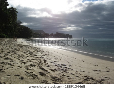 Beau Vallon beach, Mahe island, Seychelles Photo stock ©