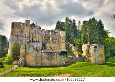 Beaufort castle ruins, Luxembourg