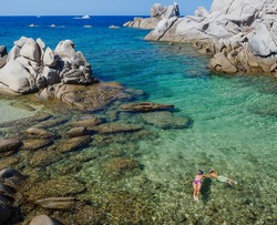 Beauiful view of the Sardegna bay. Italy