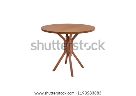 Beaultiful table wood on white background. #1193583883
