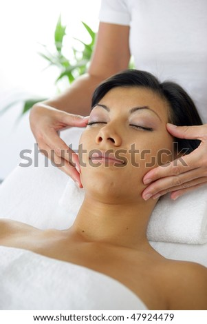 Beautician giving a massage