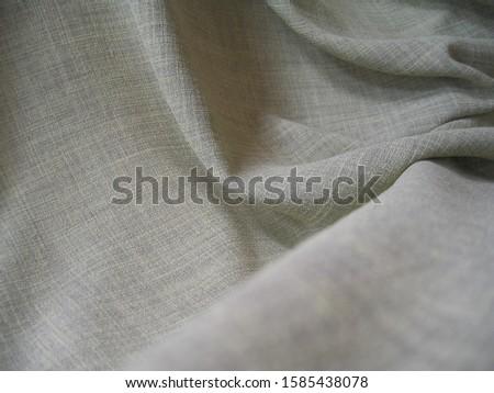 beautifu linel fabric drapery with macro shot