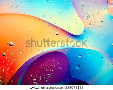 beautiful abstract colorful background with oil on water surface #226093135