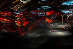 Beautiful Abstract futuristic painting color texture with lighting effect. Modern dynamic shiny pattern. Fractal graphic artwork design. Creative long exposure photography. Abstract lights at night.