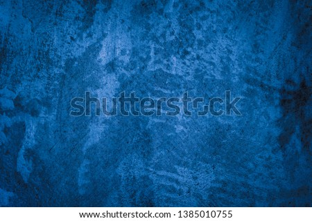 Beautiful Abstract Grunge Decorative Navy Blue Dark Stucco Wall Background. #1385010755
