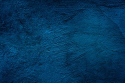 Beautiful Abstract Grunge Decorative Navy Blue Dark Stucco Wall Background. Art Rough Stylized Texture Banner With Space For Text, cement background. Old wall pattern texture cement blue dark