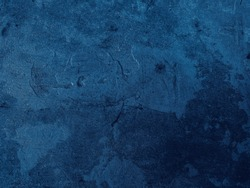 Beautiful Abstract Grunge Decorative Navy Blue Dark Stucco Wall Background. Art Rough Stylized Texture Banner With Space For Text,dark blue background colour concept 2020. Color of the year 2020