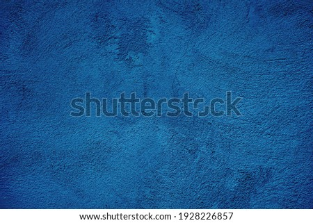 Beautiful Abstract Grunge Decorative Navy Blue Dark Stucco Wall Background. Art Rough Stylized Texture Banner With Space For Design.